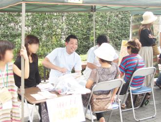 我孫子駅前で無料整体イベント