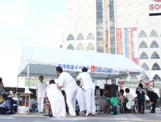 柏駅前健康推進イベント(カイロプラクティック無料体験と無料相談)